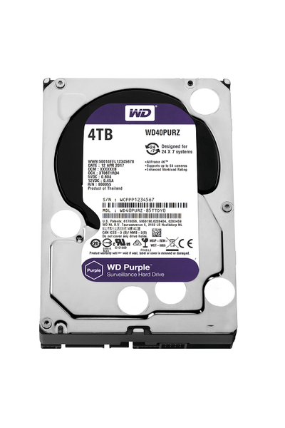 4TB WD Purple SATA6 64MB DV 7x24 WD40PURZ