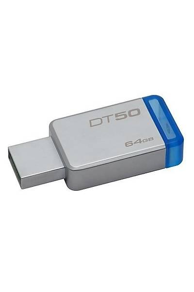 64GB USB3.1 DT50/64GB MAVİ METAL KASA KIGSTON