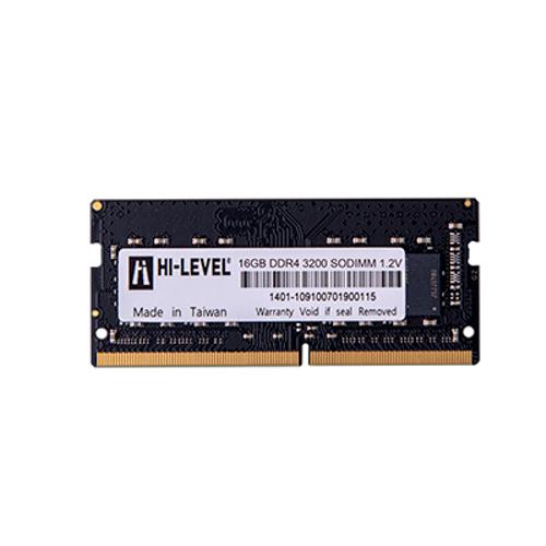 16GB DDR4 3200Mhz SODIMM 1.2V HLV-SOPC25600D4/16G HI-LEVEL 1x16gb