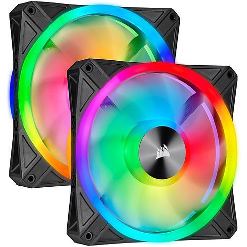 CORSAIR CO-9050100-WW ICUE QL140 RGB 140 MM DORT RGB RENK DONGULU PWM FAN LIGHTING NODE CORE KONTROLCU ILE BIRLIKTE 2 LI PAKET
