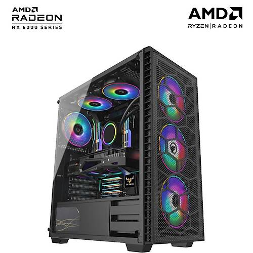 Teknogenetik Storm V1/AMD Ryzen 5 3600 16GB RX 6600 XT 8GB 500GB M.2 NVMe SSD Oyun Bilgisayarý