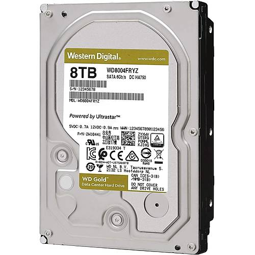8TB WD GOLD ENTERPRISE 7200RPM SATA3 256MB WD8004FRYZ