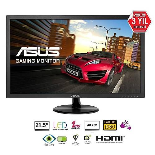 ASUS 21.5 VP228HE 1920x1080 60Hz D-Sub Hdmý 1ms Vesa Gaming Monitör