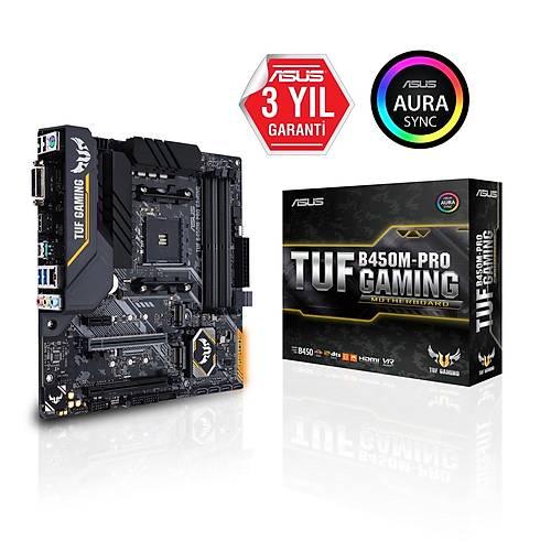 ASUS TUF B450M-PRO GAMING DDR4 RGB LED mATX AM4