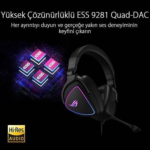 ASUS ROG DELTA S RGB 7.1 Surround Siyah Gaming Kulaklýk