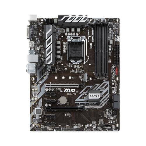 MSI B360-A PRO DDR4 2666 USB3.1 DVI  ATX 8.NESÝL
