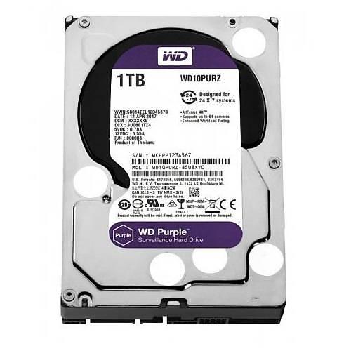 1TB WD Purple SATA6 64MB DV 7x24 WD10PURZ