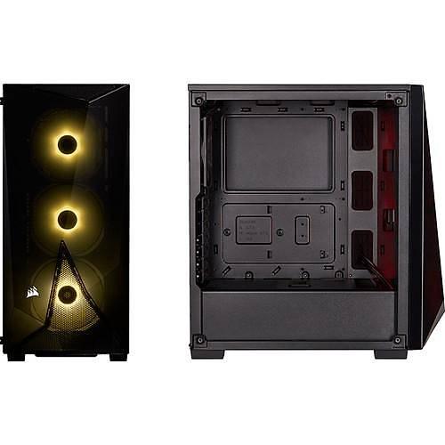 CORSAIR CC-9020121-EU SPEC-DELTA RGB TEMPERED GLASS MID-TOWER ATX GAMING CASE +VS550 POWER SUPPLY BLACK
