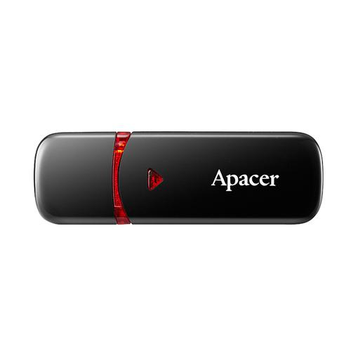 64 GB APACER AH333/64GB SÝYAH USB 2.0 AP64GAH333B-1