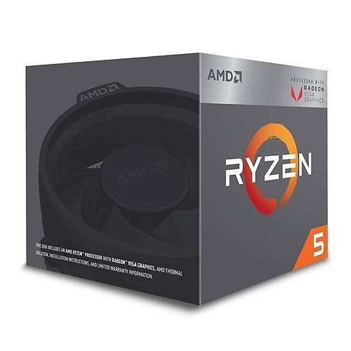 AMD RYZEN 5 2400G Soket AM4 3.6GHz 6MB 65W 4 Çekirdek Vega 11 GPU