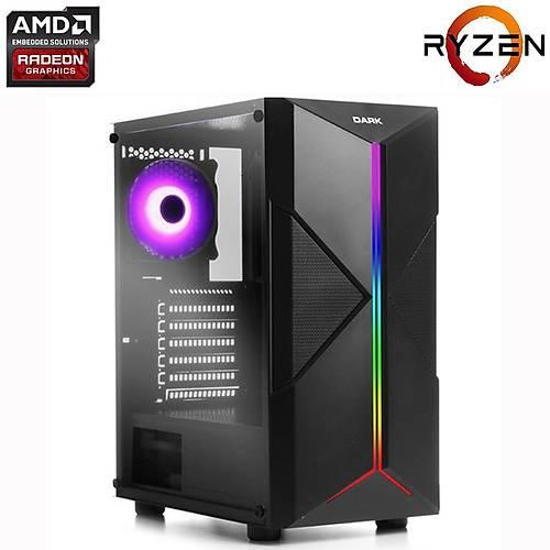 [Teknogenetik TG APU GAMER STYLE] AMD Ryzen 3 2200G 3.5Ghz, 16GB DDR4 Ram, 240GB SSD, RGB Oyun Bilgisayarý