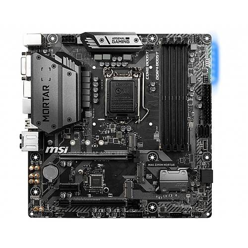 MSI Z390M MORTAR DDR4 HDMI DVI DP M.2 mATX 1151