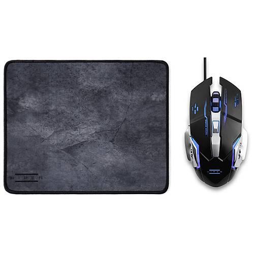 HIPER RAUM X7 Gaming Mouse/Mouse Pad SET Programlanabilir 3200DPI