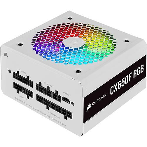 CORSAIR CP-9020226-EU CX650F 650W TAM MODULER 80PLUS BRONZE RGB GUC KAYNAGI BEYAZ
