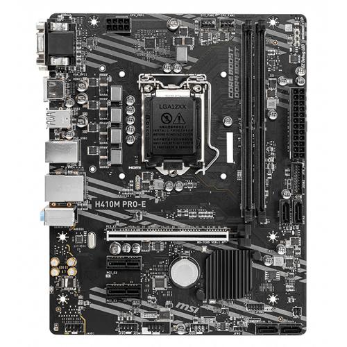 MSI H410M PRO-E DDR4 2933Mhz DVI HDMI MATX 1200p