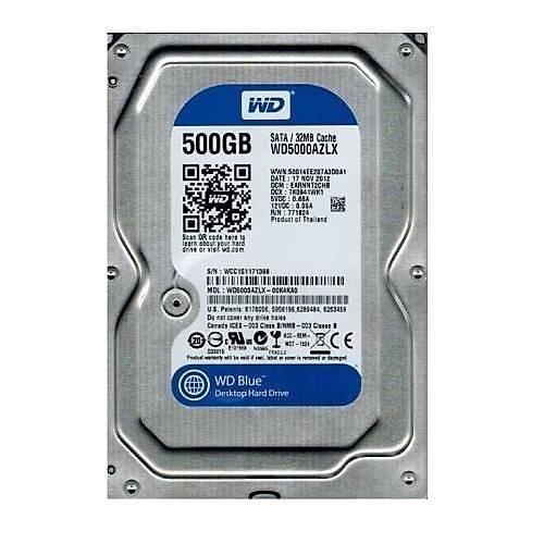 500GB WD Blue SATA3 7200rpm 32MB WD5000AZLX