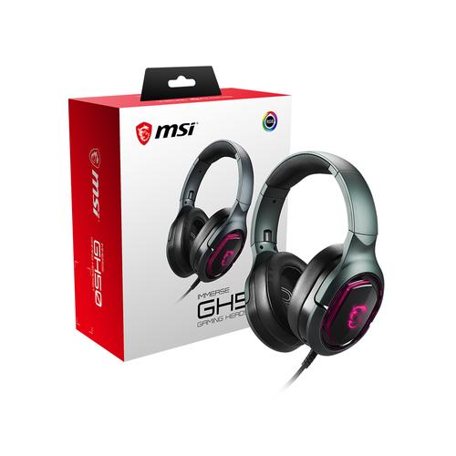MSI GG IMMERSE GH50 GAMING HEADSET 7.1 SURROUND TITRESIMLI RGB KULAKLIK