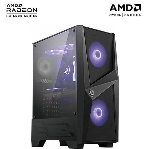 Teknogenetik Storm V2/AMD Ryzen 5 3600 16GB RX6600 XT 500GB M.2 NVMe SSD Oyun Bilgisayarý