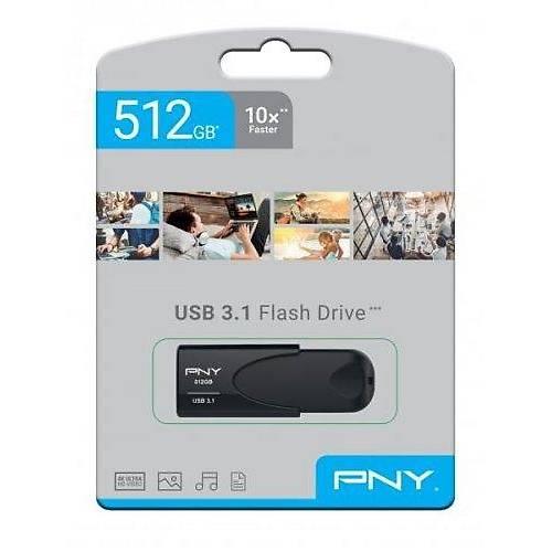 512 GB USB 3.1 PNY ATTACHE 4 USB FLASH BELLEK