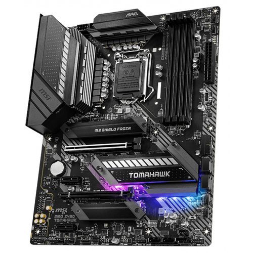 MSI MAG Z490 TOMAHAWK DDR4 4400MHz (OC) HDMI DP TYPE-C M.2 USB3.1 RGB ATX 1151p