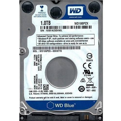 """1TB WD 2.5"""" BLUE SATA 128MB 5400 RPM 6GB/S WD10SPZX"""