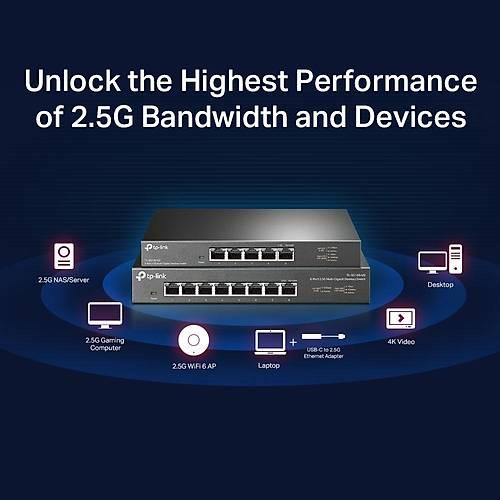 TP-LINK TL-SG105-M2 5 PORT 2.5G MULTIGIGABIT SWITCH