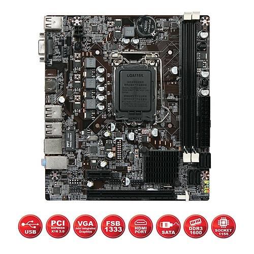 HIPER H61-ICH7 DDR3 SES+VGA+LAN+HDMI 8xUSB 1155p