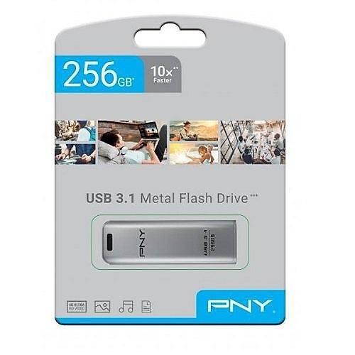 256 GB USB 3.1 PNY ELITE STEEL USB FLASH BELLEK