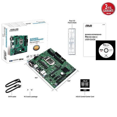 ASUS PRO H510M-C/CSM 2933Mhz M.2 HDMI DP DVI mATX 1200p