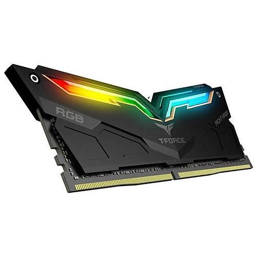16 GB DDR4 4000 Mhz T-FORCE NIGHT HAWK RGB BLACK 8x2 TEAM TF1D416G4000HC18EDC01