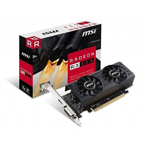 MSI VGA RADEON RX 550 2GT LP OC RX550 2GB GDDR5 128B DX12 PCIE 3.0 X16 (1XDVI 1XHDMI)