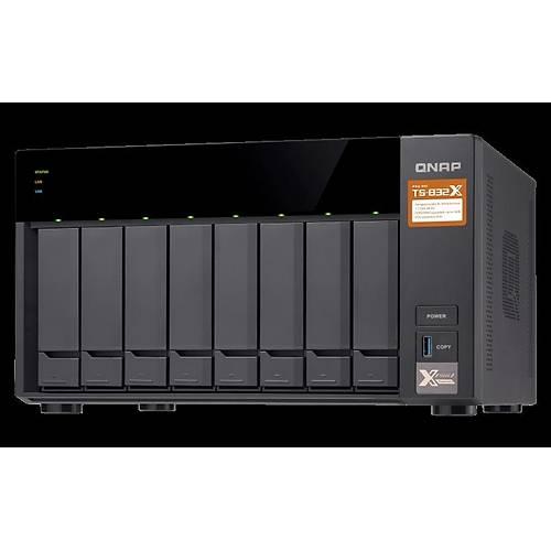 QNAP TS-832X 8 YUVALI NAS DEPOLAMA ÜNÝTESÝ(2GB)