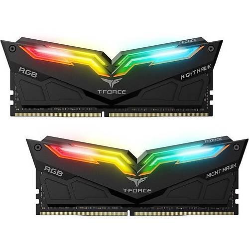 16 GB DDR4 3600 T-FORCE NIGHT HAWK RGB BLACK 8x2