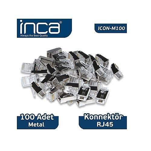 INCA ICON-M100 RJ-45 100 ADET METAL KONNEKTÖR