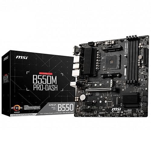 MSI B550M PRO-VDH Wi-Fi DDR4 4400(OC) HDMI mATX AM4