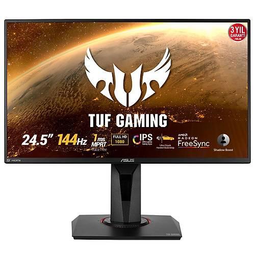 ASUS TUF GAMING VG259Q 24.5 GAMING LED FREESYNC 1920x1080 1MS 144HZ DP HDMI MM VESA 3YIL FLICKER-FREE.DUSUK MAVI ISIK.PIVOT