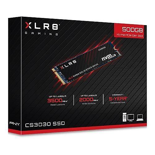 500GB PNY XLR8 CS3030 3500/2000 NVMe PCIe M.2 SSD