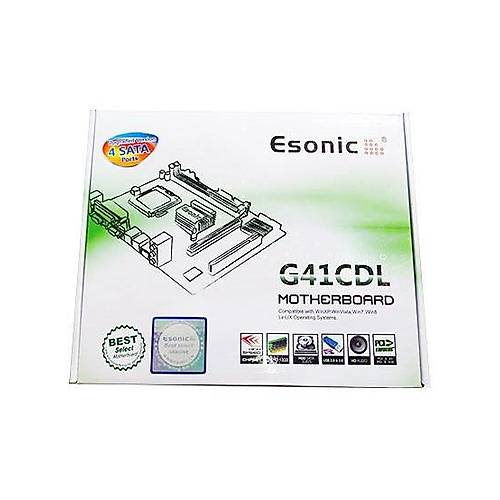 ESONÝC G41CDL DDR3 VGA LAN AUDIO ANAKART