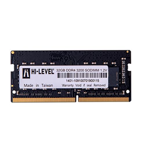 32GB DDR4 3200Mhz SODIMM 1.2V HLV-SOPC25600D4/32G HI-LEVEL