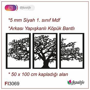 Lazer Kesim Mdf Duvar Tablo - 50x100 Cm