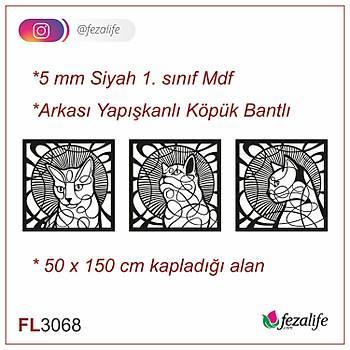 Lazer Kesim Mdf Duvar Tablo - 50x150 Cm
