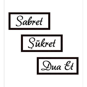 Sabret Þükret Dua Et 3'lü Set - Kapladýðý Alan 45 x 45 Cm