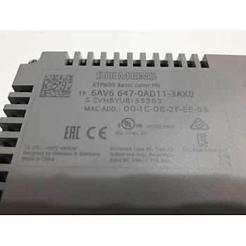 Siemens KTP600 6av6-647-0ad11-3ax0 Operatör Paneli