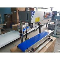 Lavion FRB 770-II Konveyörlü Otomatik Poşet Ağzı Kapatma Makinesi Dikey Yapıştırma