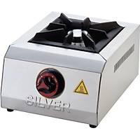 Silver Setüstü Doğal Gazlı CE li Tek Göz Mini Yer Ocağı