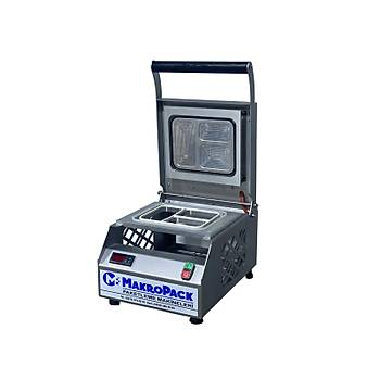 Makropack Manuel Kase Kapatma 3 Gözlu Tabak Kapatma Makinesi