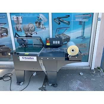 Makropack Manuel L Kesim Konveyorlu Paketleme Makinesi