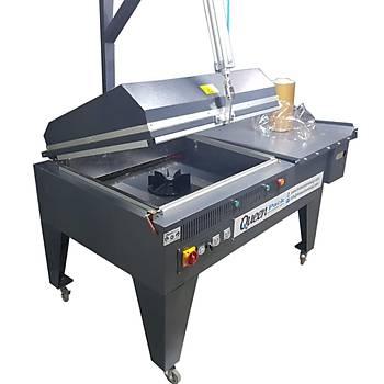 Makropack Pnomatik Sistem 8000P Model Kapaklý Shrink Makinesi  65*80 Cm