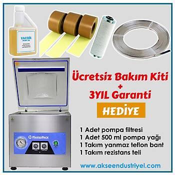 Makropack 35 Cm Tek Çene Set Üstü Vakum Makinesi Gýda Vakum Makinasý