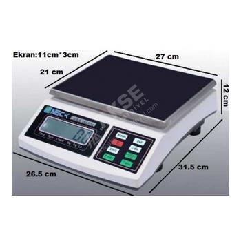 Neck JCS-B 15 Kg 0,5 Gr Elektronik Tartým Terazisi